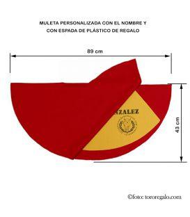 MULETA INFANTIL CON ESTOQUE DE REGALO