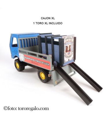 CAMION VINTAGE CON CAJON xl