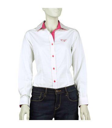 Mujer Camisa Y Blanca Rosa Taurina SUMpzV